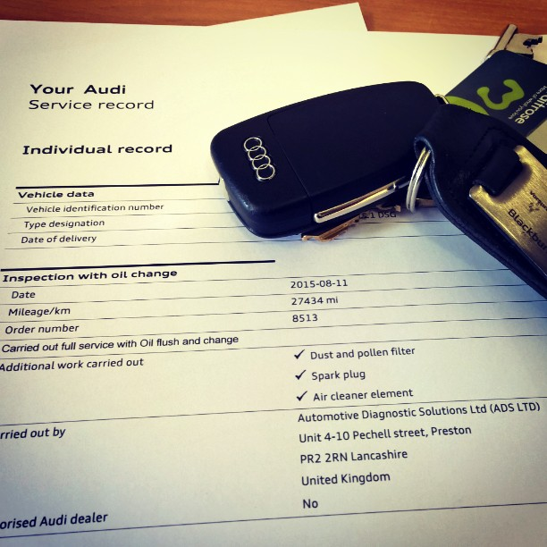 Audi online digital service record