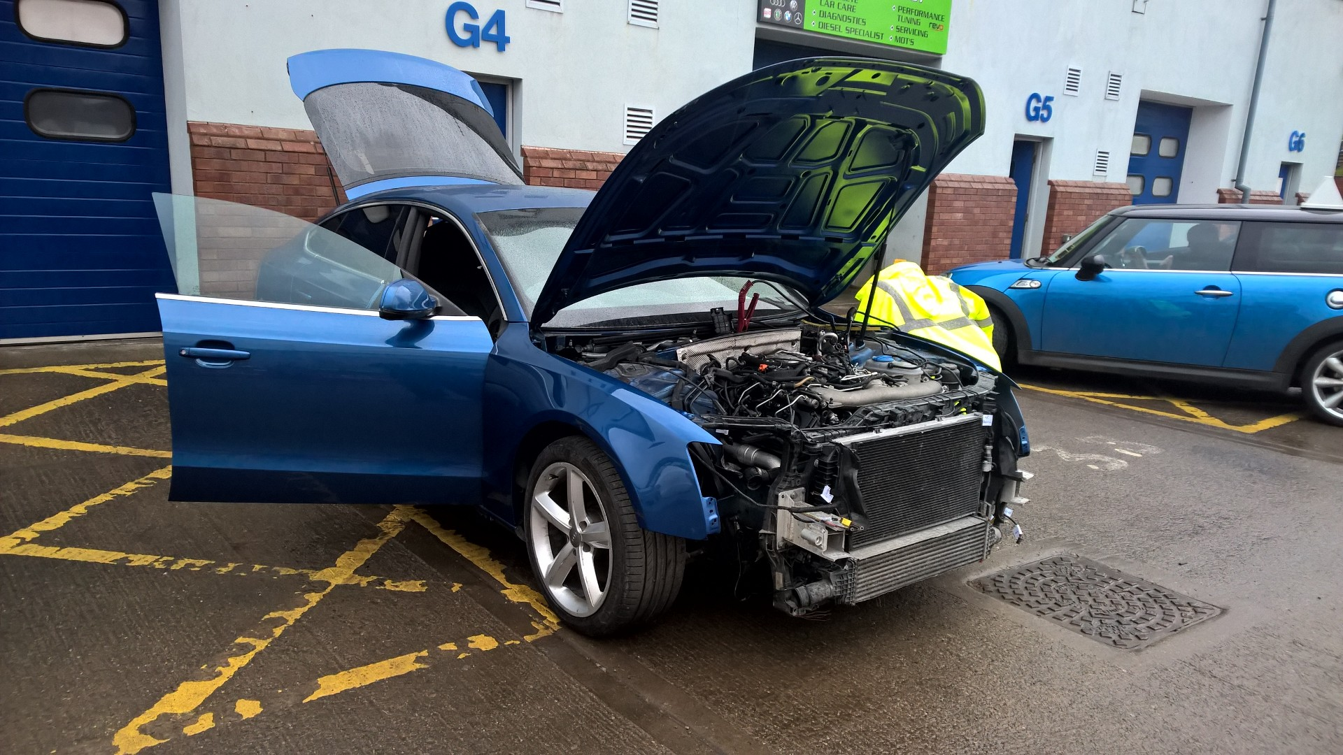 Accident damaged Audi A5 repair part 1.