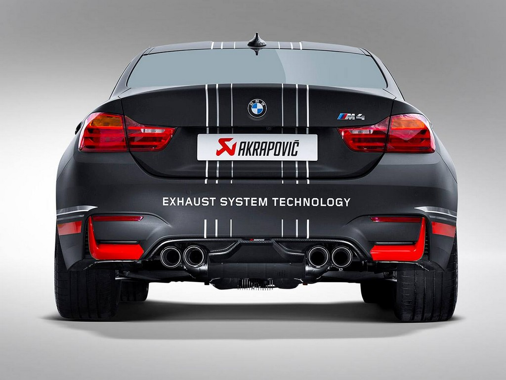 BMW M4 akrapovic exhaust system