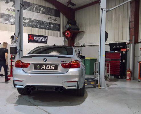 BMW m4 akrapovic exhaust