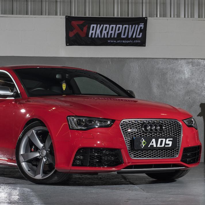 Audi RS5 with Full akrapovic titanium exhaust and eventuri