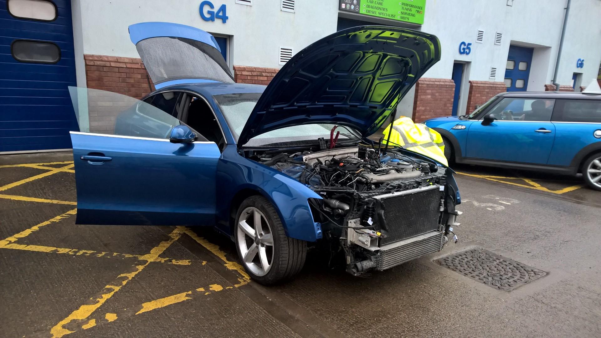 Accident damaged Audi A5 repair part 1.