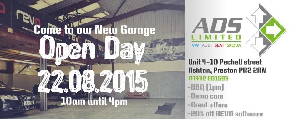 ADS new garage opening !! 22nd August 2015